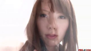 Japanese babe Nagatsuki Ram diven between her legs for clam