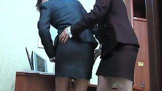 Lady boss seduces the secretary