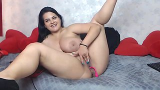 Sexy Chubby Latina with Monster Boobs