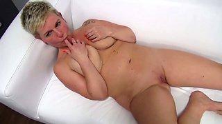 Mature casting squirting orgasm big boobs cum on face