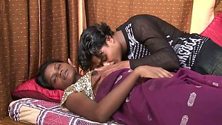 Busty brown skin Indian GF squeezing milk out of her juggs