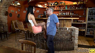 DADDY4K Excited old guy penetrates sons girlfriend with hard manhood