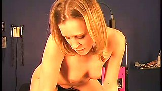 With slutty eyes begging for dick Lexi is riding her Sybian machine like a boss
