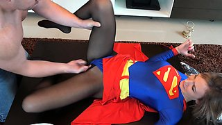 Nylon pantyhose girlfriends humping through nylon