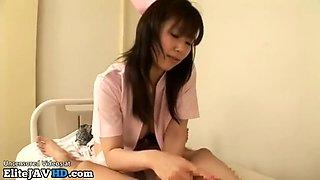 Jav Milf in stockings and uniform gives pleasure