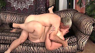 Beautiful BBW Becky Butterfly loves riding fat dicks