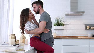 Hot ass girlfriend Veronikaja gets fucked good by her boyfriend