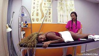 Young massage girl Venus Afrodita and Nick Moreno fuck hot chubby client