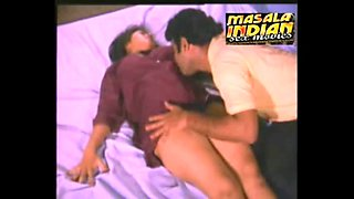Mallu big boobs lady hard boobs pressing romance on bed