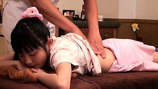 Subtitled CMNF ENF Japanese teen schoolgirl ass massage