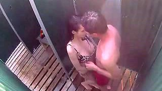 Blowjob in the beach shower cabin (Camaster)