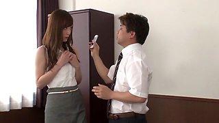 Exotic Japanese girl Kaede Fuyutsuki in Amazing secretary, couple JAV scene