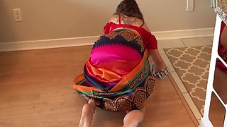 Old Maid In Saree Fucked By Young Dude With Niks Indian