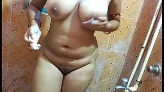 Desi bathing