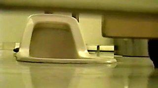 Hidden cam in school toilet shoots pissing teen girls