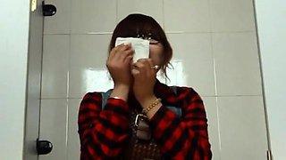 Public toilet voyeur films amateur Japanese ladies pissing