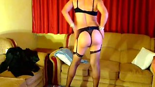 Crossdresser Claudia Hooker in Sexy lingerie