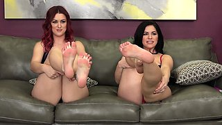 Lesbian Babes Karlie and Bella Lick and Fuck Each Other