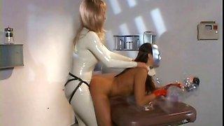 Lesbo mistress twat didloing hot slave