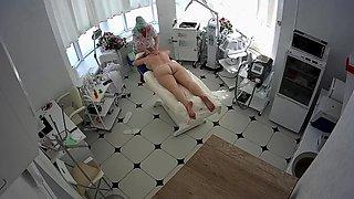 Hidden cameras. Beauty salon, Granny massage