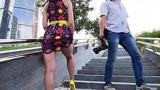 Jeny Smith Yellow heels public naked