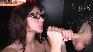 sexy blowjob and facial