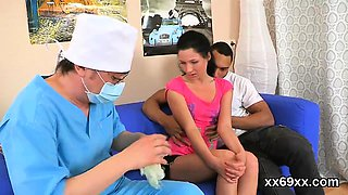 Doctor gazes hymen checkup and virgin chick poking83rzQ