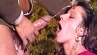 Classic French Myriel Outdoor DP. Amazing Facial To Finish!!