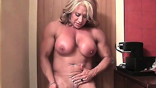 Hot Bodybuilder's Big Clit