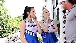 Teen cheerleaders sucking