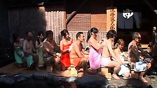 Lustful Japanese couples get together for an exciting orgy