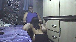 Schoolgirl Slave sucking cock
