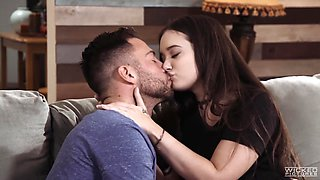 Seductive babe Gia Paige gets messy facial after a passionate sex