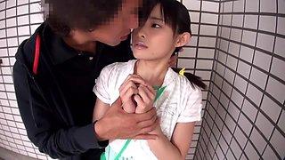 Hottest Japanese slut in Amazing JAV censored Small Tits, Public scene