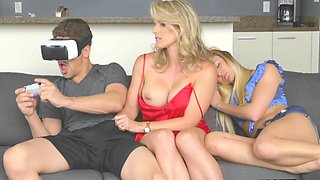 Naughty stepmom uses the situation to fuck her daughter's BF