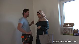 Big tit muslim house warming