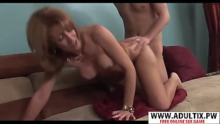 Smoking mommy mikela kennedy gives blowjob sweet young son&#39s friend