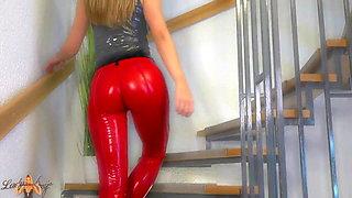 Ass worship latex leggings