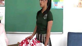 Cute Asian schoolgirl facialized by her horny professor