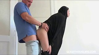 Muslim wife is fucked hard right after funeral