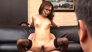 Best Japanese chick Yayoi Yanagida in Horny Stockings, Office JAV scene