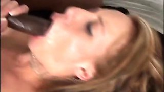 Blonde Deepthroats And Fucks Black Meat