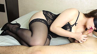 Hot School Teacher in Stockings and High Heels – Blowjob and Fuck