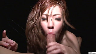 Uncensored Japanese beach sixtynine with eager gyaru