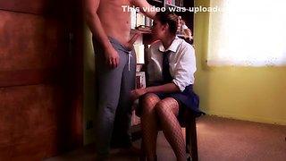 Extreme hard deepthroat abuse of teen schoolgirl (Gagging, C