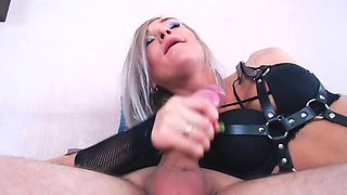 Hot angel passionately blowjobed my dick