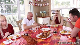 Mother compeers daughter hd and big tit mom taboo Spanksgiving With The Family