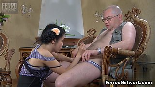 HornyOldGents Video: Veronica and Leonard B