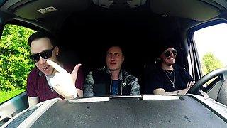 BUMS BUS - German babe Kylie Kay gets drilled in the van