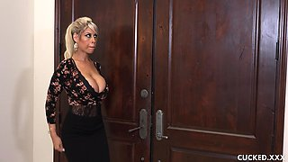 Voluptuous milf Bridgette B bouncing on a throbbing manhood
